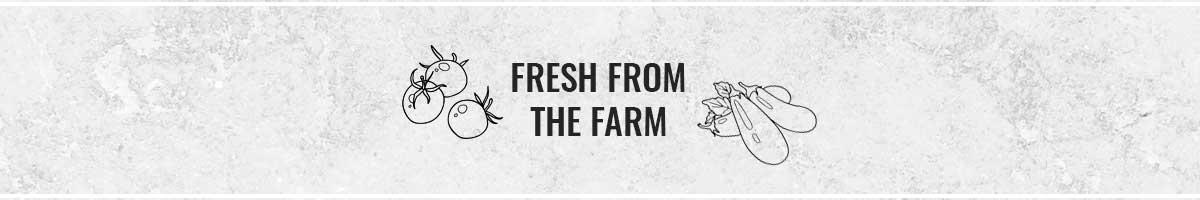 fresh from the farm header
